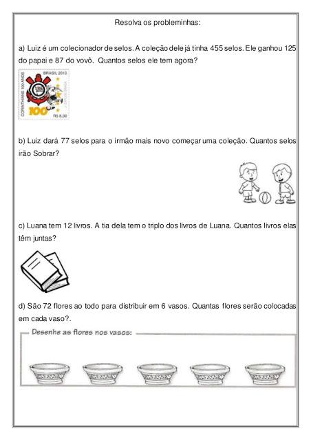Problemas Matematicos Para Imprimir So Escola