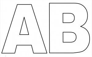 MOLDES DE LETRAS A E B