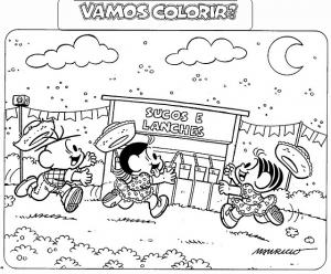 Desenhos De Festa Junina Da Turma Da Monica So Escola