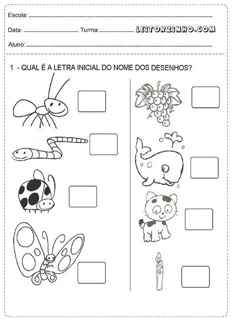 Atividades 1 Ano Para Imprimir De Portugues Matematica E