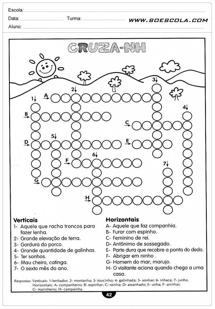Atividades Educativas de português 4º ano para imprimir