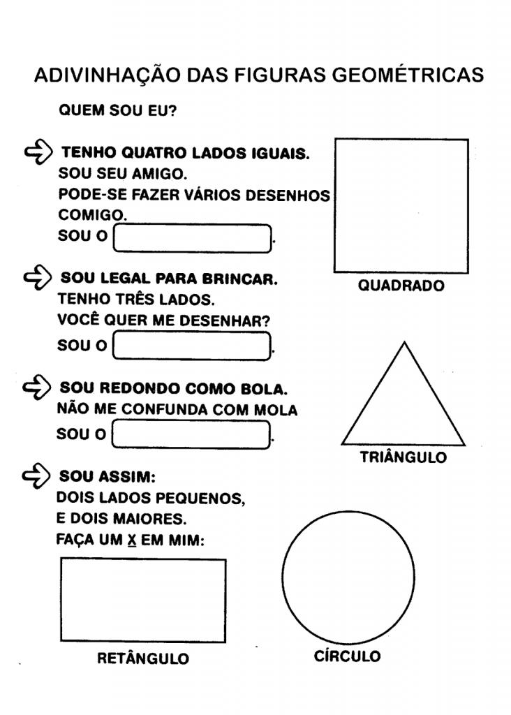 Adivinhação com figuras geométricas