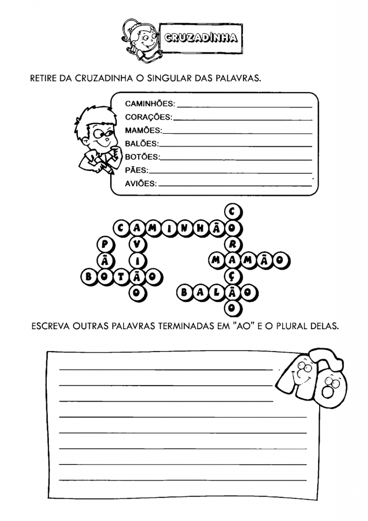 Atividades com Plural e Singular