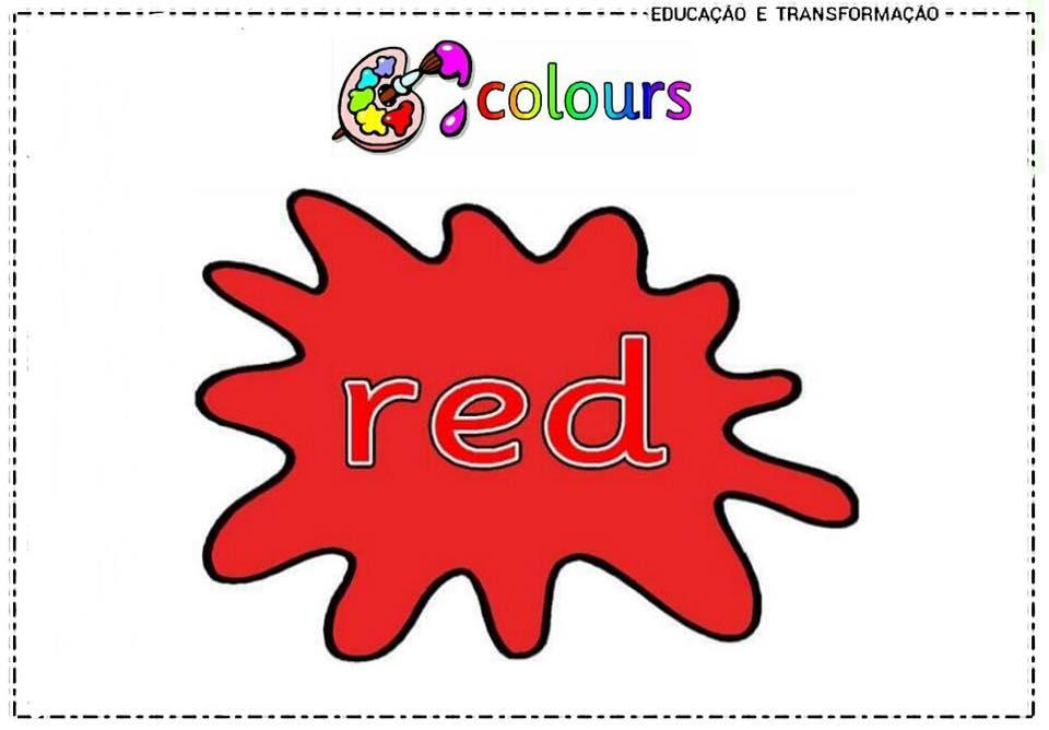 Vamos aprender as cores em inglês ? Confira imagens ilustrativas para imprimir .