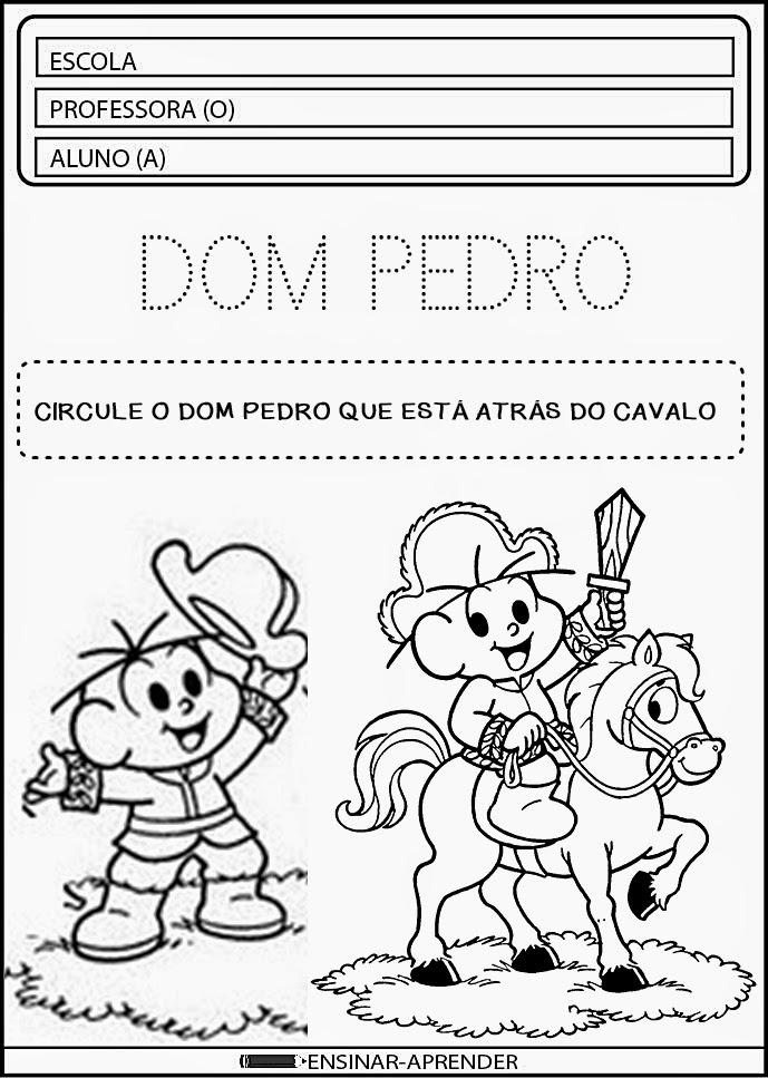 Atividades sobre o dia da independência, atividades escolares 7 de setembro, independência do Brasil O Dia da Independência do Brasil é celebrado em 07 de setembro, dado que foi nesse dia em que, às margens do rio Ipiranga, D. Pedro tornou o país independente.