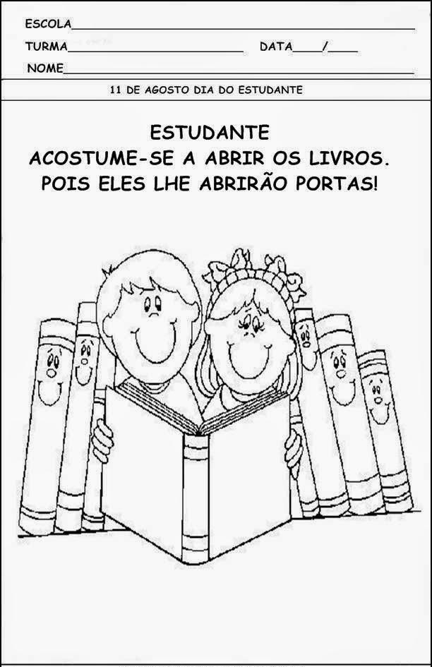 ATIVIDADES DIA DO ESTUDANTE PARA IMPRIMIR