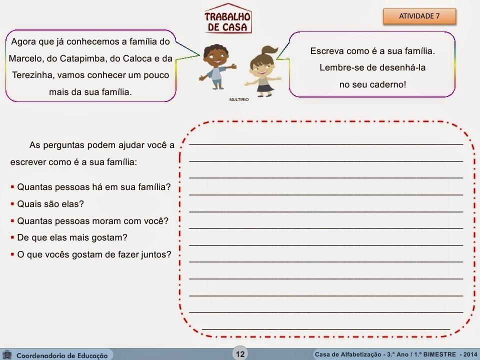 ATIVIDADES DE INTERPRETAÇÃO DE TEXTO PARA 3º ANO