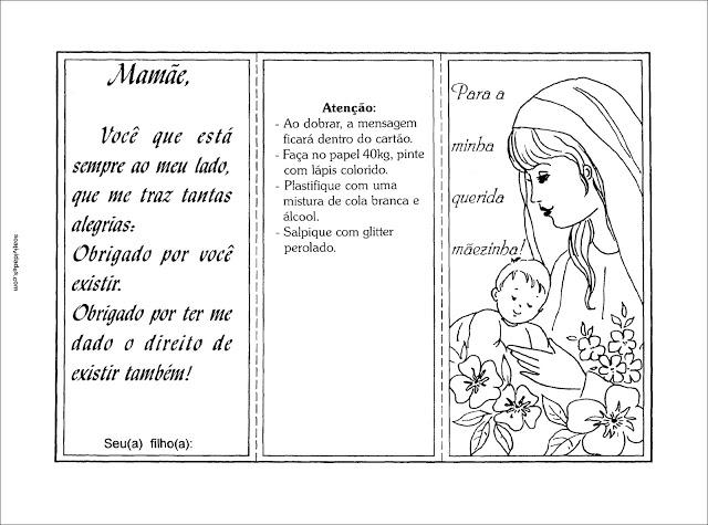 Modelos de cartão de dia das mães para lembrancinha imprimir