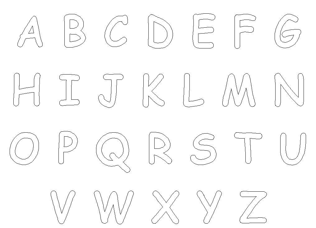Fabuloso Alfabeto para imprimir - Desenhos para Colorir — SÓ ESCOLA AO29