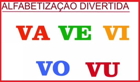 As Sílabas - VA,VE,VI,VO,VU - Alfabetização Divertida