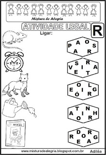 Atividade Legal Ligar Letras Desenhos Alfabetizac3a7c3a3o R Imprimir