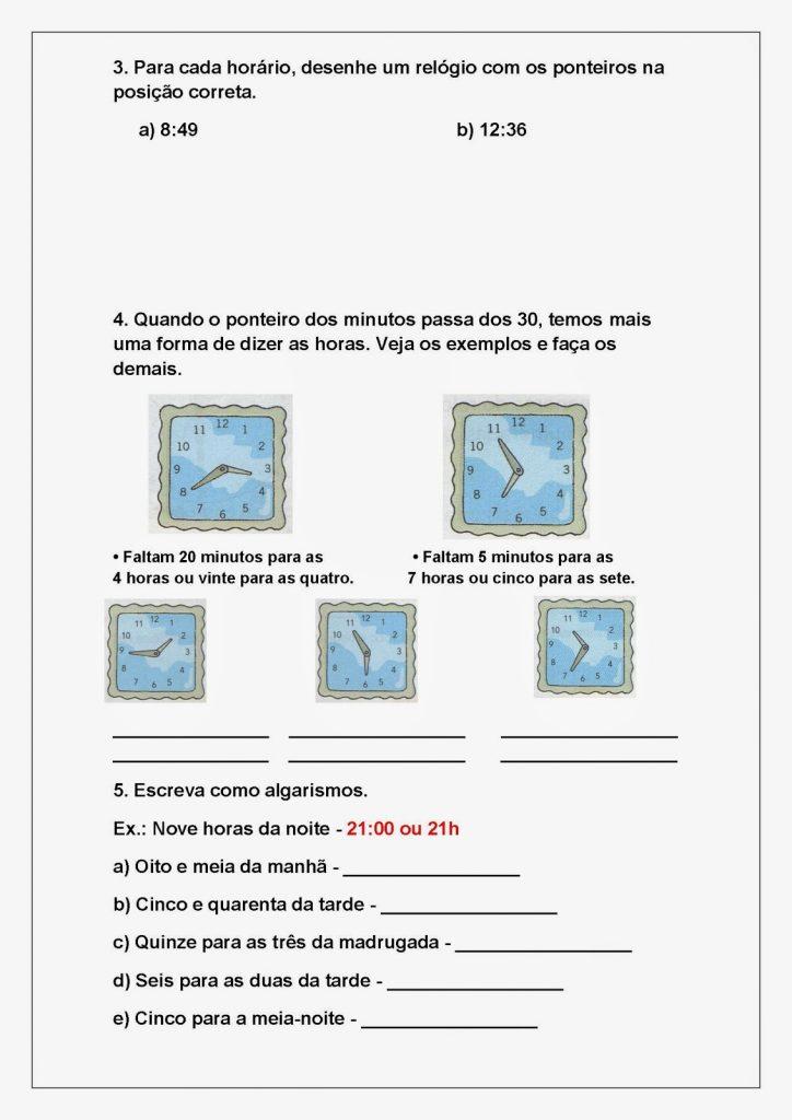 Atividades de Matemática para Imprimir