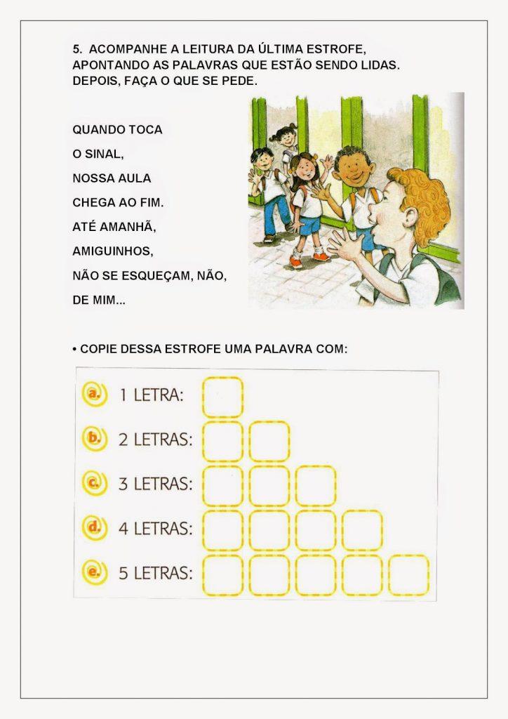 Alfabetização Infantil atividades para imprimir