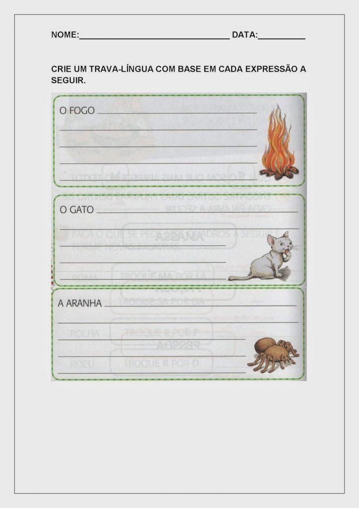 Alfabetização para Imprimir -  Atividades
