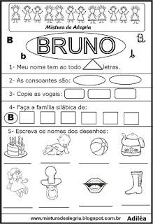 Brincando com os nomes - Bruno