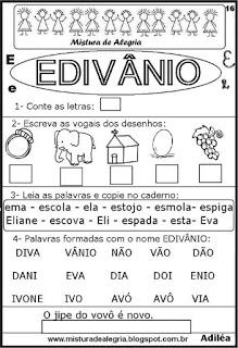 Brincando com os nomes - Edivânio