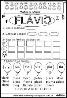 Brincando com os nomes -Flávio