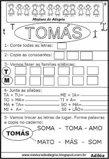 Brincando com os nomes -Tomás
