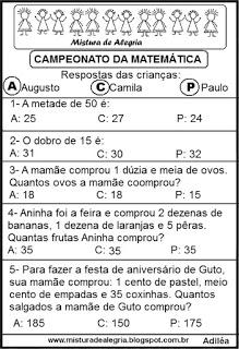 Pódio - campeonato de matemática