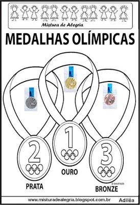 Medalhas olímpicas para colorir