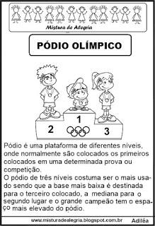 Pódio olímpico - texto informativo