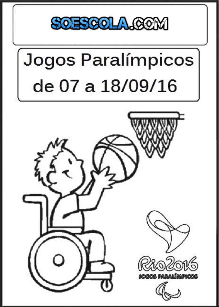 ATIVIDADES JOGOS PARALÍMPICOS 2016 Para imprimir e colorir