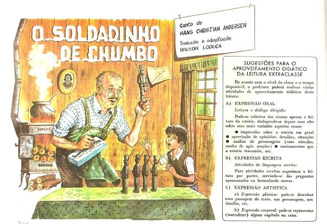Gênero Textuais: CONTO O SOLDADINHO DE CHUMBO para IMPRIMIR, é um conto de Hans Christian Andersen - Livro Português Moderno.