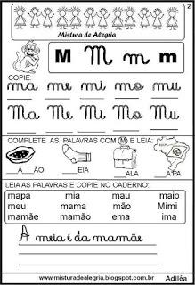 Livro famílias silábicas-letra M