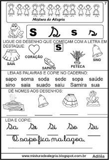 Livro famílias silábicas-letra S