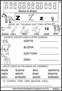 Livro famílias silábicas-letra Z