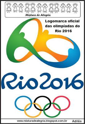 LOGOMARCA OFICIAL DOS JOGOS OLÍMPICOS 2016  PARA IMPRIMIR E COLORIR