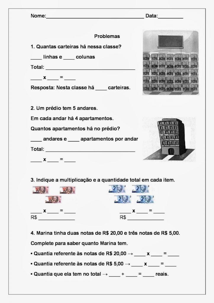 Problemas de Matemática 3 ano - Atividades Educativas para imprimir: confira mais abaixo alguma atividades para imprimir de matemática para alunos do 3ºAno, são atividades de Multiplicação, Adição e subtração.