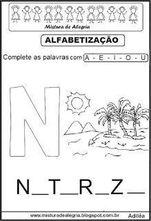 Sequência alfabética, fixação de vogais