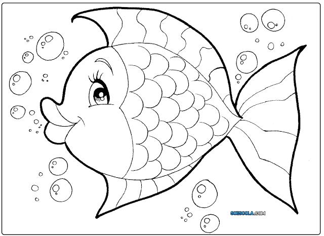 8 Desenhos De Peixes Para Colorir Só Escola