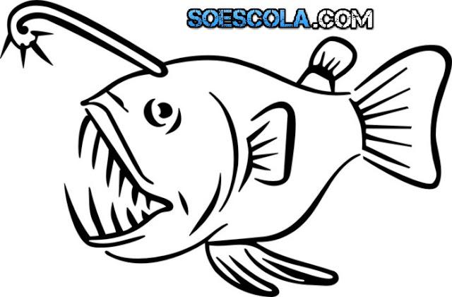 Pinte esses peixes super divertidos para eles ficarem ainda mais alegre.