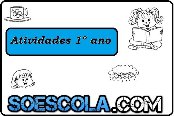 Exercícios de língua portuguesa para o 1° ano do ensino fundamental que fala sobre formar nomes, sequência do alfabeto e muito mais.