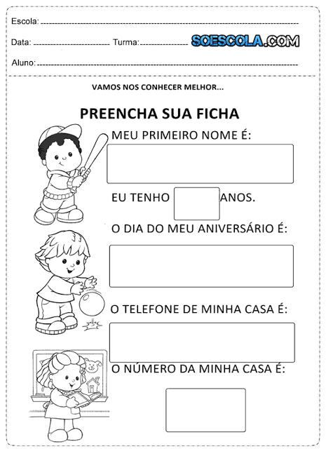 Atividades de Alfabetização para imprimir para alunos do 1º Ano do ensino fundamental