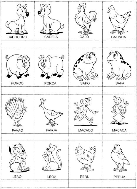 jogos da memória para imprimir com alta qualidade e economia de tinta/papel. Jogo da Memória de Animais e seus gêneros