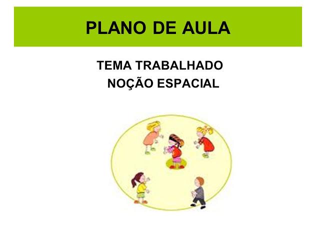 PLANO DE AULA LATERALIDADE - NOÇÃO ESPACIAL