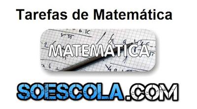 Tarefas de Matemática para imprimir