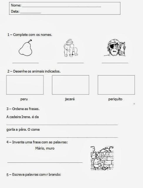 São atividades de alfabetização com desenhos para colorir, prontas para imprimir e usar no dia a dia.