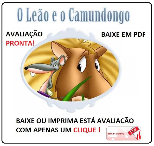 BAIXE AVALIAÇÃO DE PORTUGUÊS COM FÁBULA