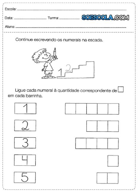 Alfabetização Infantil - Atividades de Matemática para crianças