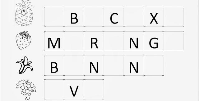 Atividades com as vogais - Frutas