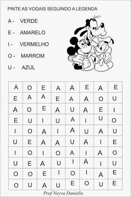 Atividades vogais - Confusão de vogais