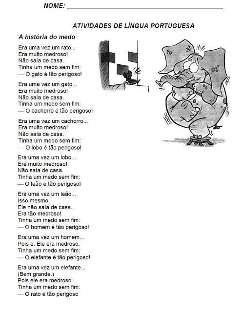 Atividades de Leitura - Atividades de Lingua Portuguesa