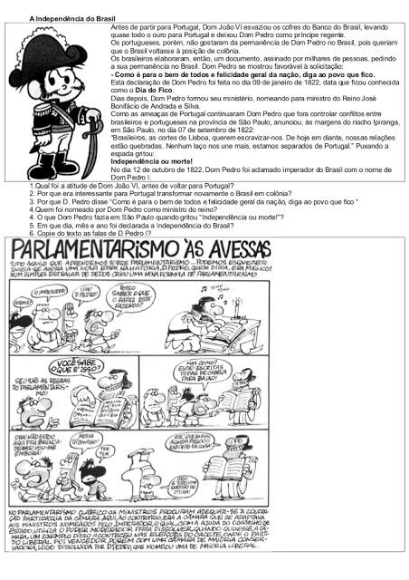 Atividades Independência do Brasil