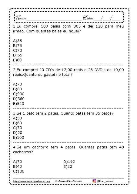 Caderno Pedagogico Situacoes Problema 5º Ano Atividades Para Imprimir So Escola