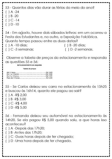 Atividades De Matematica Para 5º Ano Reforco So Escola