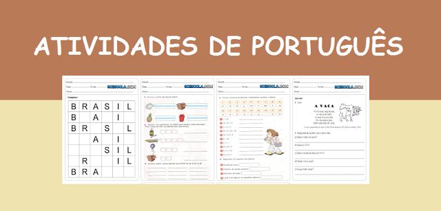 Atividades de Português 1° ano do Ensino Fundamental